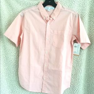 Old Navy Boys Xlarge Pink Buttons Down Shirt NWT